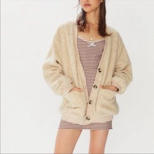 Urban Outfitters Teddy Button-Front Sweater